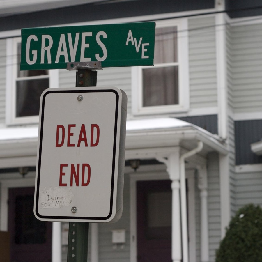 dead end street by the pet cemetery